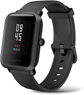 Amazfit Bip-S Smartwatch with 30-Day Battery Life,Tough Body,1.3'' AMOLED Display,5 ATM Water-Resistant,14 Sports Modes, Built-in GPS and GLONASS, Carbon Black