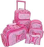 STEFANO Kinder Reisegepäck Schmetterling pink rosa -präsentiert von RabamtaGO- (Set 4 teilig)