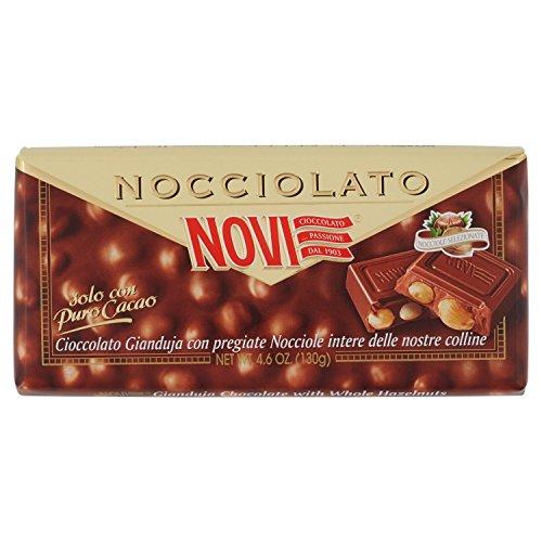 Novi - Nocciolato, Cioccolato Gianduja con Nocciole Intere - 4 tavolette da 130 g [520 g]