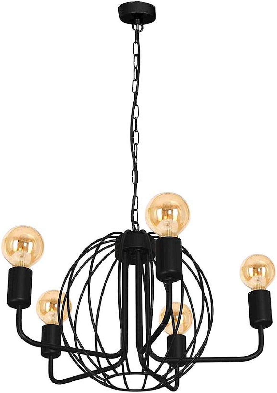 KUGEL SCHWARZ 5xE27 Deckenleuchte Deckenlampe Hngeleuchte Hngelampe Pendelleuchte