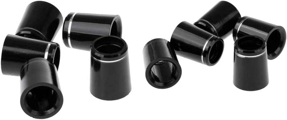 Milageto 10pcs Plastic Golf Tip Iron Tips .370 Silver Ring 2 Siz