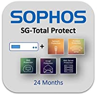 Sophos UTM SG 115w Wireless Appliance TotalProtect Bundle with 4 GE ports, FullGuard License, Standard 8x5 Support - 2 Year