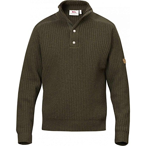 Fjallraven - Men's Varmland T-Neck Sweater, Dark Olive, XXL