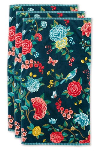 Pip Studio Juego de toallas Good Evening, 3 unidades, color azul oscuro, tamaño 55 x 100 x 3 ✅