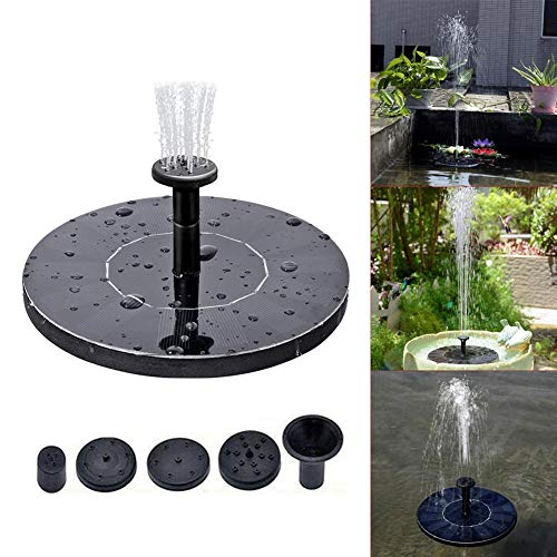 Solarbrunnen Mini,5,3 Solar Springbrunnen Garten Pool Teich Im Freien Schwimmenden Garten Pool Im Freien (1.4w)