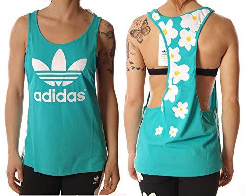 Camiseta Tirantes (Tank Top) adidas – Kauwela turquesa talla: 34 S (Small)