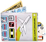Mighty Wallet Men's NYC, Blue/green/white/gray-In flight, One Size
