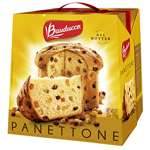 Bauducco Panettone All Butter Gift Pack, Moist & Fresh, Traditional Italian Recipe, Italian Traditional Holiday Cake, 32oz