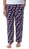 Mattel Womens' Barbie Logo All Over Print Loungewear Sleep Pajama Pants (S) Black