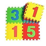 V-SOL Alfombra / Alfombrilla de Puzzle De Juego Para Niños Bebé - 30*30*1cm / 10pcs Diseño números