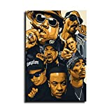 Jay-z NWA Hip-hop Mogul Canvas Art Poster and Wall Art Picture Print Modern...