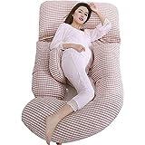 JLKDF Almohadas de Maternidad, Almohada de Soporte Corporal Almohada de Embarazo de Cuerpo Completo,...