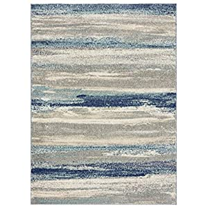 Luxe Weavers Tower Hill Abstract Blue 8×10 Area Rug