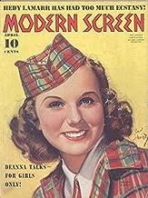 Modern Screen Magazine April 1939 (Earl Christy image of Deanna Durbin on Cover))