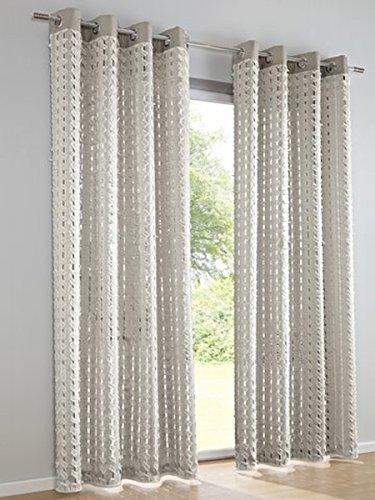 Dekostore, Farbe Silberfarben, 1 Stück, Heine Home, 622 - Gardinen, Größe: ca. HxB: 245x130 cm, mit Ösen