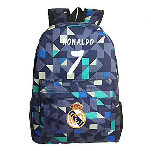 Cristiano Ronaldo Fans Gift Luminous Backpacks Real Madrid Shoulder Bag for Outoor