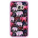 Hapdey Coque pour [ Samsung Galaxy S6 Edge Plus ] Dessin [ Motif Lumineux de Beaux éléphants Roses...
