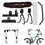 Colgador de techo para bicicletas, elevador de carga, almacenamiento de bicicletas, gancho de montaje en pared, elevador de techo, polea, soporte para bicicletas, soporte de techo para