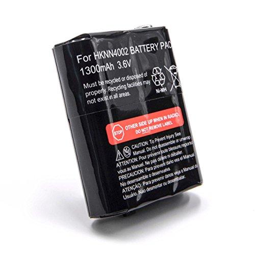 vhbw Batería Recargable Compatible con Motorola Talkabout T5412, T5422, T5532, T5622 Radio (1300 mAh, 3,6 V, NiMH)