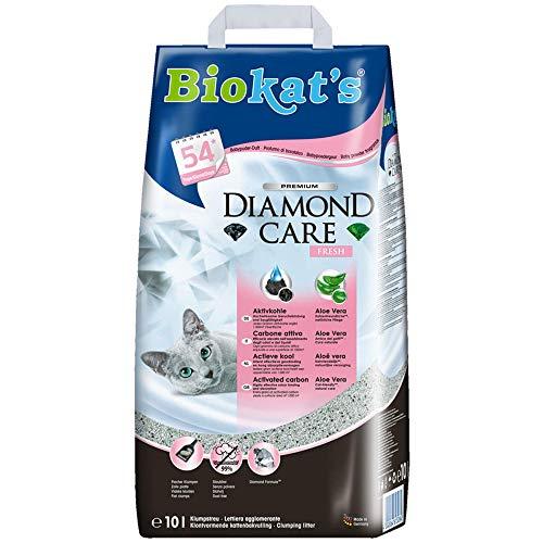 Biokat 's Diamond Care Fresh - Arena para gatos fina con carbón activo y aloe vera, 1 saco (1 x 10 L) - 2 unidades