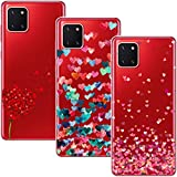 Young & Ming Funda para Samsung Galaxy Note 10 Lite, (3 Pack) Transparente TPU Silicona Carcasa Delgado Antigolpes Resistente, Amor