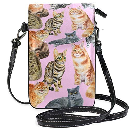 XCNGG Kleine Geldbörse Cat Cell Phone Purse Wallet for Women Girl Small Crossbody Purse Bags