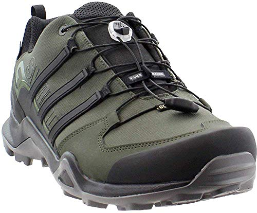 adidas outdoor Terrex Swift R2 GTX Hiking Shoe - Men's Night Cargo/Black/Base Green, 10.5