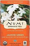 Numi Organic Tea Jasmine Green, Full Leaf Green Tea, 18-Count Tea Bags
