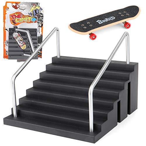Meipai Griffbrettschiene, Parktreppe, Mini-Skateboards für Kinder, Skateboard-Training, Mini-Brettspiel