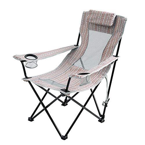 Gangkun Klapstoel, grote rugleuning, vrijetijdssofastoel, balkon, luxe outdoor campingstoel, draagbare strandstoel