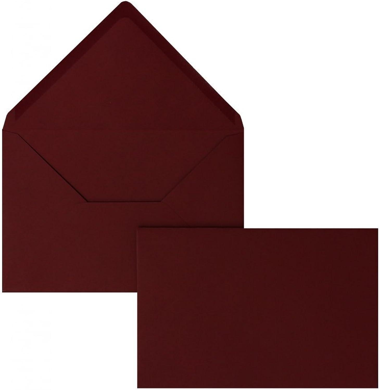 Farbige Briefhüllen   Premium   114 x x x 162 mm (DIN C6) Rot (100 Stück) Nassklebung   Briefhüllen, KuGrüns, CouGrüns, Umschläge mit 2 Jahren Zufriedenheitsgarantie B01DULEA38 | Wonderful  8044cf