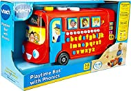 HOURS OF FUN: The Playtime Bus has lots of great activities to keep your little one entertained. Press the character buttons to learn safety rules or fun phrases, and press the number buttons to learn numbers. Answer the questions in the Challenge Ti...