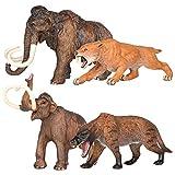 DIU Ice Age Mammoth Juguete Mamut Animal Modelo Animal Diente de Sable Tigre Sólido Lobo temible Niño Hombre Decoración cognitiva Colección Cuatro