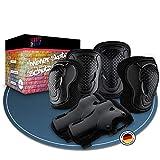 Skate2Now® Juego de protectores para niños en línea – Práctico juego de protectores para niños [2X] rodilleras, [2X] coderas y [2X] muñequeras – Varios tamaños – con bolsa de transporte (grande)