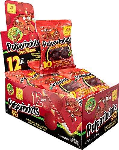 Pulparindots Tamarindo extra piccante - Snack messicano di frutta piccante al tamarindo - confezione da 20 buste