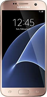 Samsung Galaxy S7 G930V 32GB, Pink Gold - Verizon + GSM (Renewed)