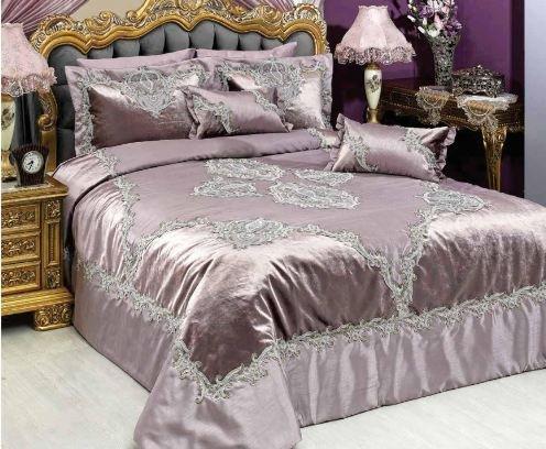 vinaldi Türkisch Polyester Tagesdecke Set (Sarayli) 102 x 106 inch puder