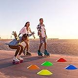 HFXLH 40pcs Disco Cono Set - Fútbol Flexible de formación de Cono Marcador de Disco del Equipo de Entrenamiento de plástico para la Agilidad de fútbol para los niños, la formación de Patinaje