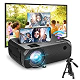 Bomaker Wi-Fi Mini Projector, 150 ANSI Lumen Portable Outdoor Movie Projector, Full HD 1920x1080p Supported Video Projector, Wireless Mirroring, for Android/iPhone/PCs/Laptops/Windows/DVD Player
