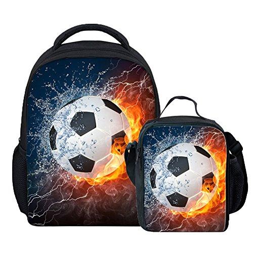 Coloranimal, einzigartige Thermo-Lunch-Tasche für Kinder mit American-Football-Motiv Casual Backpack+lunch Bag-3