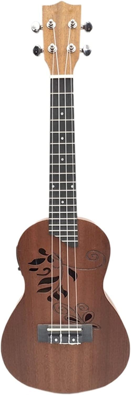 Concierto Ukulele Kit Ukelele Concierto De Ukelele Eléctrico De 24 Pulgadas Guitarra Electroacústica De Ukelele con Incorporado EQ Recoger