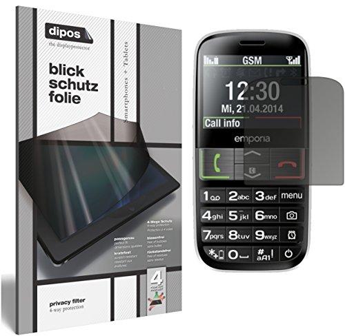 dipos I Blickschutzfolie matt kompatibel mit Emporia Euphoria V50 Sichtschutz-Folie Bildschirm-Schutzfolie Privacy-Filter