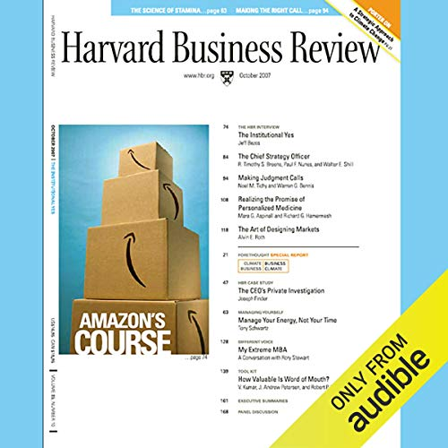 Harvard Business Review, October 2007 audiobook cover art