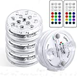 Luces Sumergibles StillCool Piscina Luz LED Impermeables IP68,4 Pack 13 LEDs 16 Colores LED...