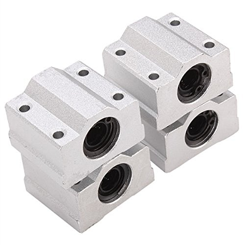 HICTOP Linear Motion Ball Bearing CNC SCS8UU Slide Unit Bushing Linear Roller Bearing Slide Block pack of 4pcs
