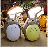 YHX My Neighbor Totoro Anime Lamp, Totoro Umbrella LED Night Light Kids Character Desk Night Table Lámpara De Lectura con Cargador USB