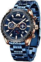 MEGALITH Men's Watches Chronograph Watch Men's Big Face Designer Mens Watch Stainless Steel Wrist Watch Waterproof Analog...