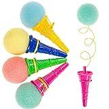 JuniorToys Ice Cream Party-Shooter - Mitgebsel Kindergeburtstag - die lustigen Eiskugel-Abschießer...
