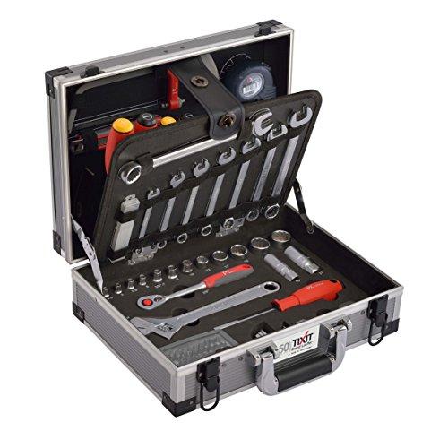 Tixit Aluminium-Werkzeugkoffer KOMPAKT   92-teilig