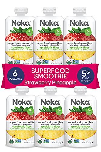 NOKA Superfood Smoothie Pouches (Strawberry...